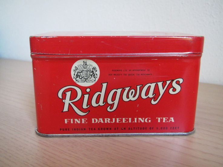 Ridgways Tea Tin by Tinsagogo on Etsy https://www.etsy.com/listing/237639069/ridgways-tea-tin