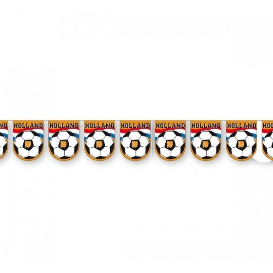 Oranje Voetbal Slinger - 10 meter