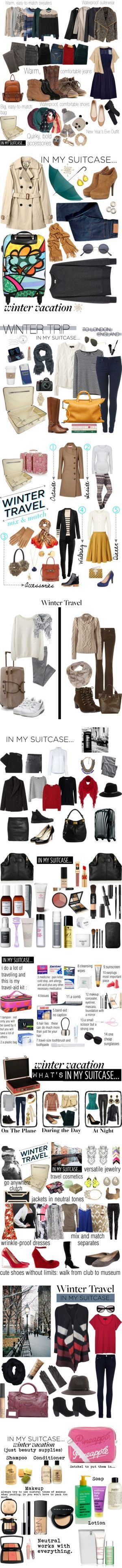 """""""Winter Travel"""" by helenmoses :heart: liked on Polyvore"""