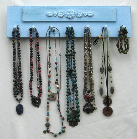 NECKLACE Hanger Jewelry Organizer And Display Shabby Chick