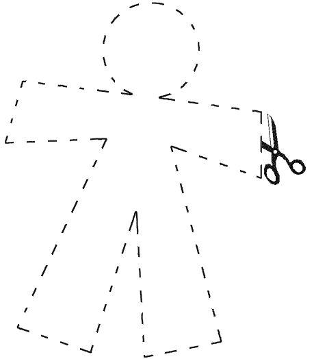 Qué hay más típico que el monigote de papel para el día de los Santos Inocentes? Pues aquí teneis un modelo para recortar.