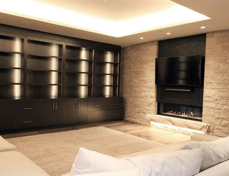 Kingsman Fireplace installed in Entertainment Room at a private residence in Aspen, Colorado.