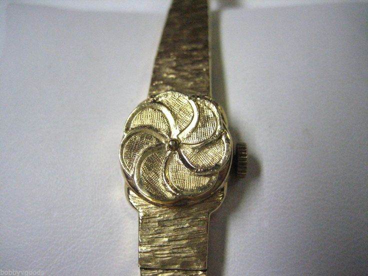 VINTAGE 14K YELLOW GOLD CASE BAND ALTAIR INCABLOC 17 JEWELS WOMEN'S DRESS WATCH