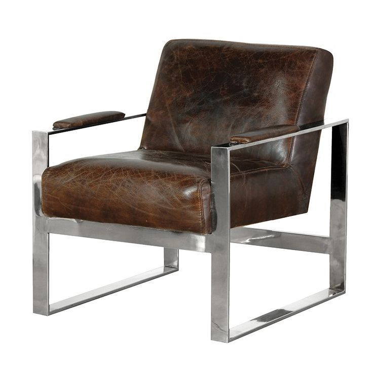 £649.99 buys you this Steel and leather occasional chair. Perfectly made in the highest materials.