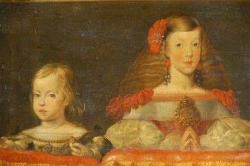 Margarita en el Palco Real. Antes de 1665