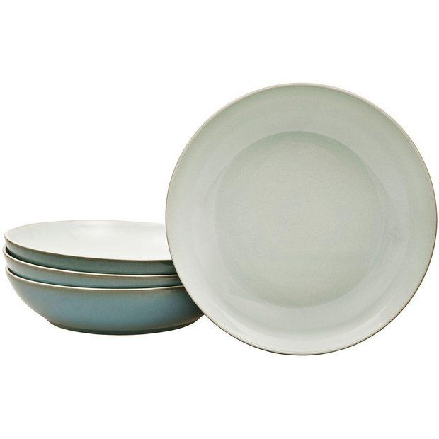 Buy Denby Everyday Set of 4 Stoneware Pasta Bowls - Teal at Argos.co.uk - Your Online Shop for Crockery, Tableware, Cooking, dining and kitchen equipment, Home and garden.