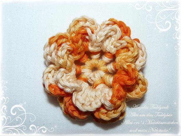 3-D+Häkelblume++♥+orange+Blume++-1-+♥+von+Angelas+Teddywelt++auf+DaWanda.com