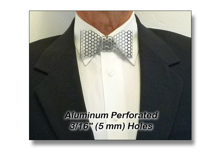 Metal Regular Bow Tie Aluminum Perforated 3 16 5 Mm Etsy Aluminum Sheet Metal Perforated Neck Bow
