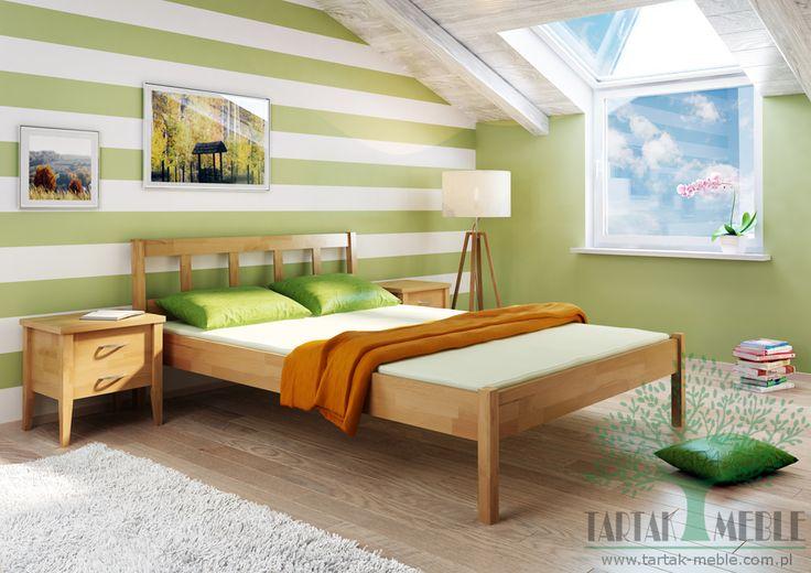 Łóżko bukowe Lilo to uniwersalna prostota i świetny stosunek ceny do jakości. #tartakmeble #shoponline #łóżka #sklep