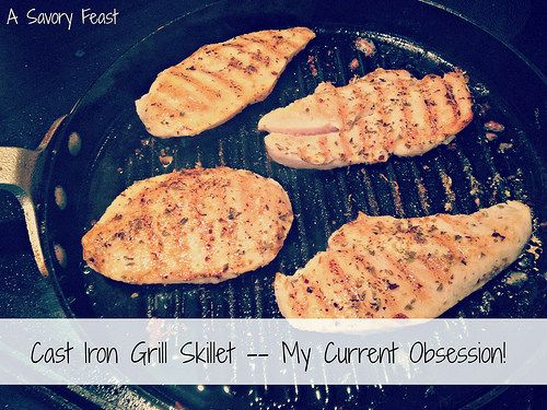 """Cast Iron Grill Skillet -- My Current Obsession! If you don't have a grill (or don't have time), this amazing kitchen tool will still give you that """"grilled"""" flavor."""