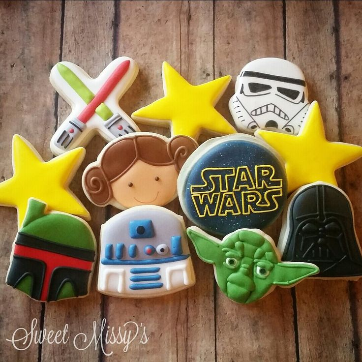 Sweet Missy's - Star Wars cookies!!! May the force be with you!