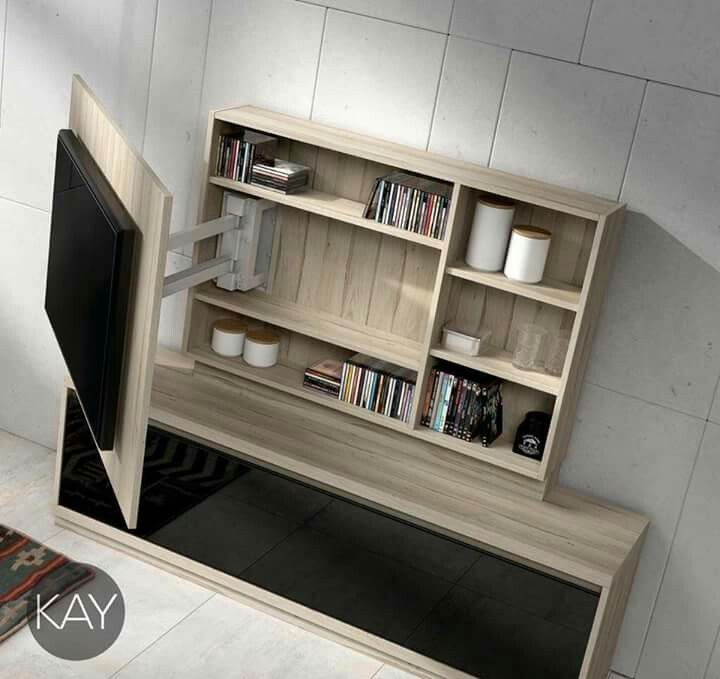 Pop Out entertainment center for more storage