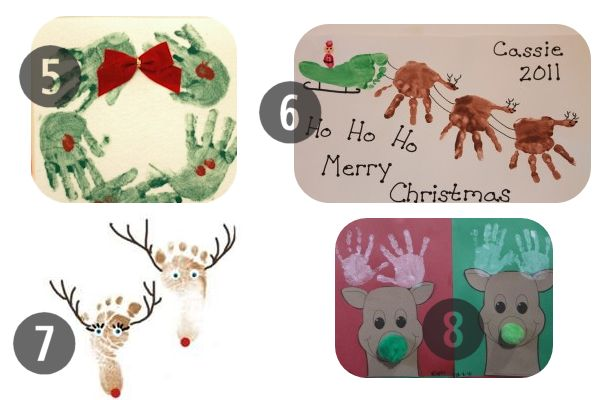 More Preschool Christmas Crafts Made by Hand or Foot