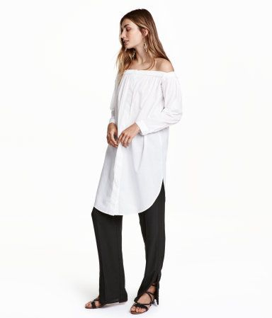 Off-the-shoulder Dress | White | Ladies | H&M US