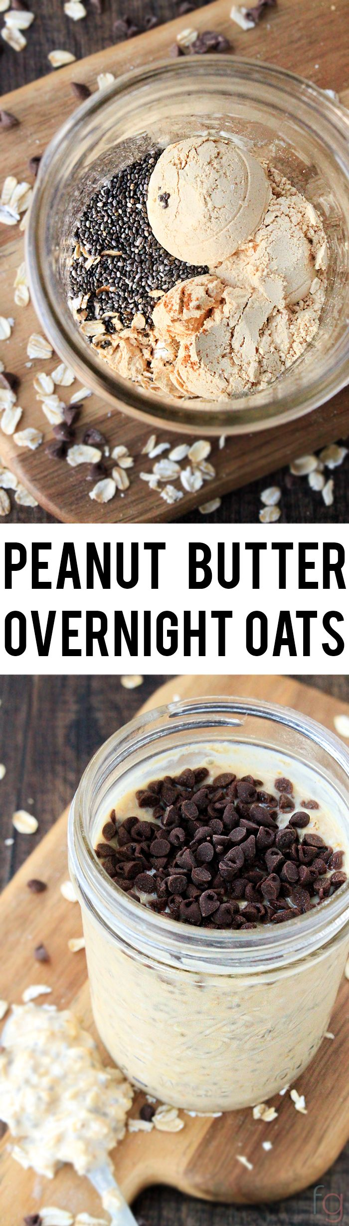 This Peanut Butter Overnight Oats Recipe is such an easy breakfast and takes less than five minutes to put together! #StartWithJifPowder #ad