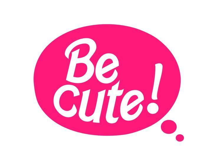 Be cute Concepto: Logotipo creado para marca de ropa femenina