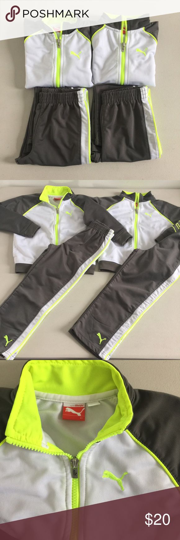 PUMA twins boys active wear sports tracksuit In LikeNew condition. Priced for 1, bundle discount for both. Tiniest pilling if u can even call it that. Jackets can be worn separately. Puma Matching Sets