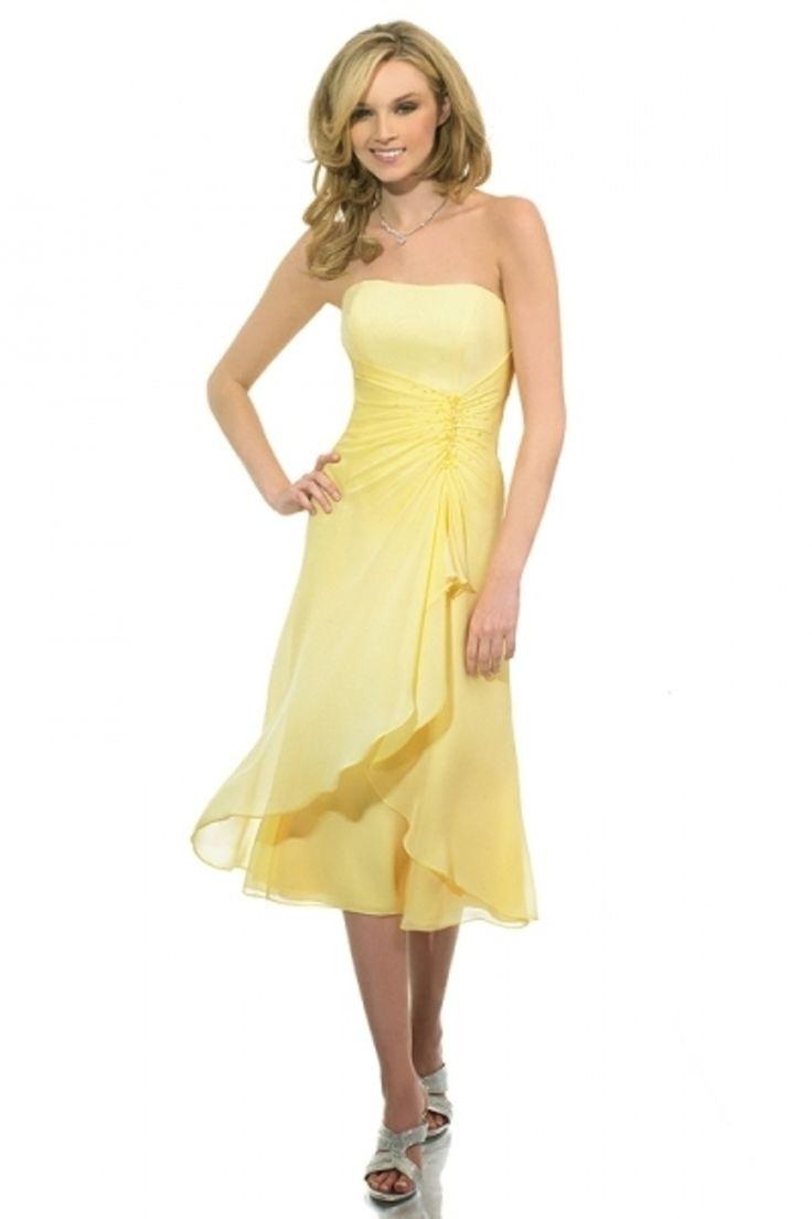 26 best bridesmaid dresses images on pinterest boyfriends 2013 bridesmaid dresses a line strapless tea length chiffon cheap under 100 ombrellifo Images
