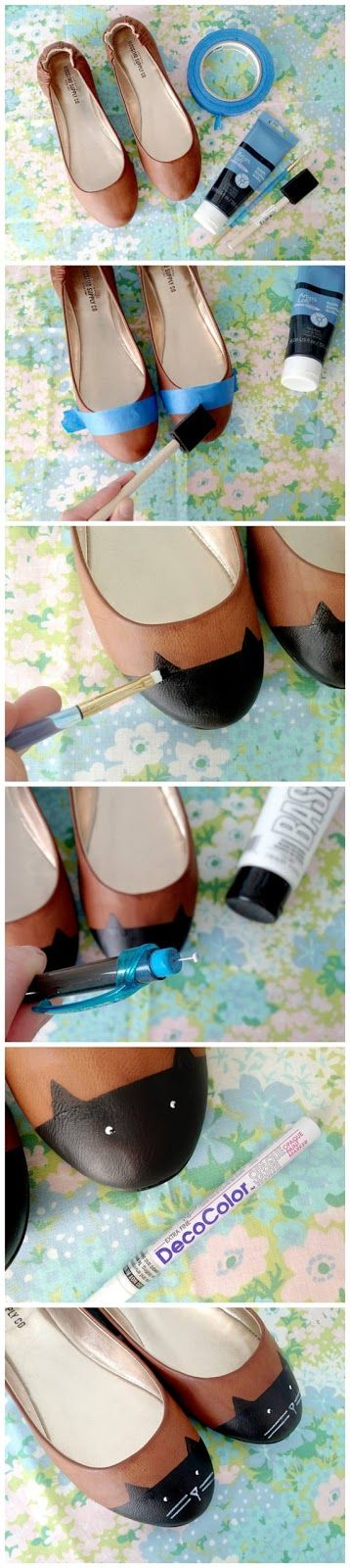 DIY Cat Toe Shoes- You could do just about anything you wanted with this idea-