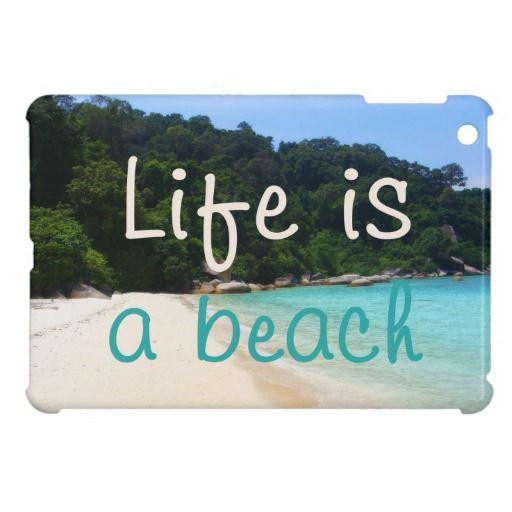 A beautiful white sand beach surrounded by trees. Life is a Beach! / Cover For The iPad Mini, iPad, iPad Air or iPad Mini Retina #fomadesign