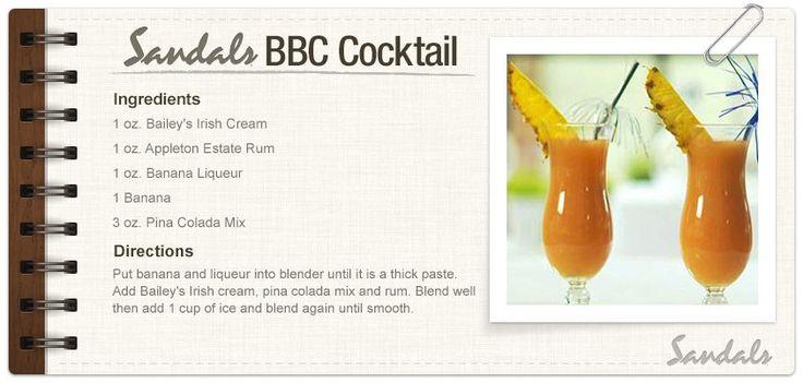 Sandals resort drink recipe