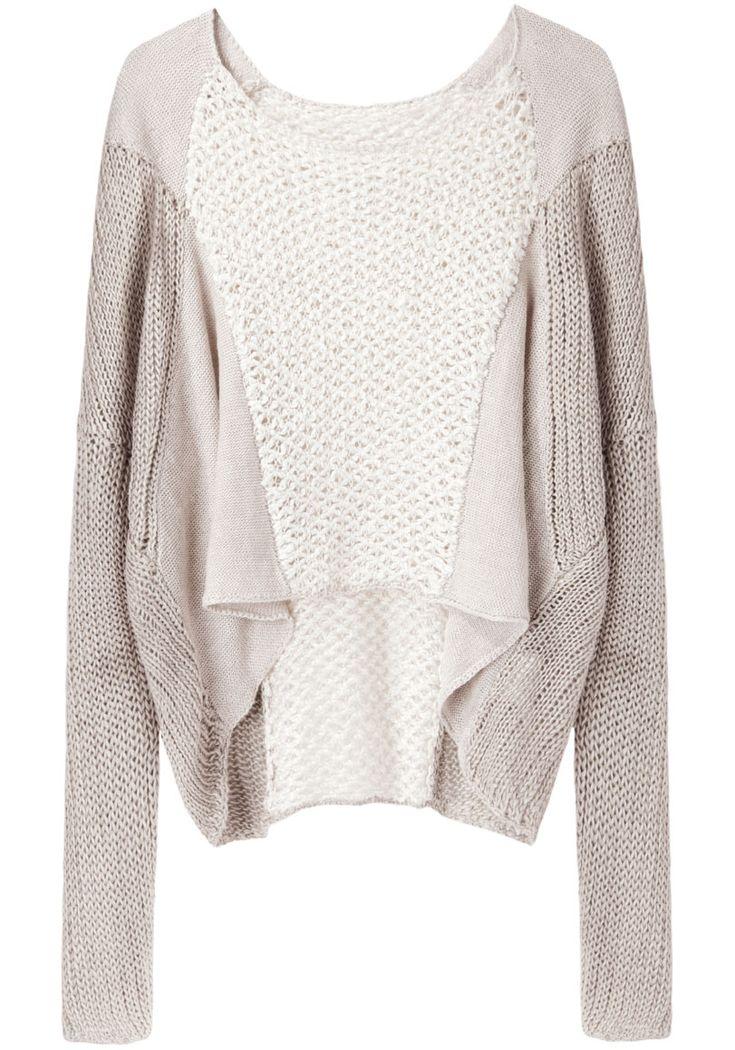 gorgeous linen sweater // helmut lang