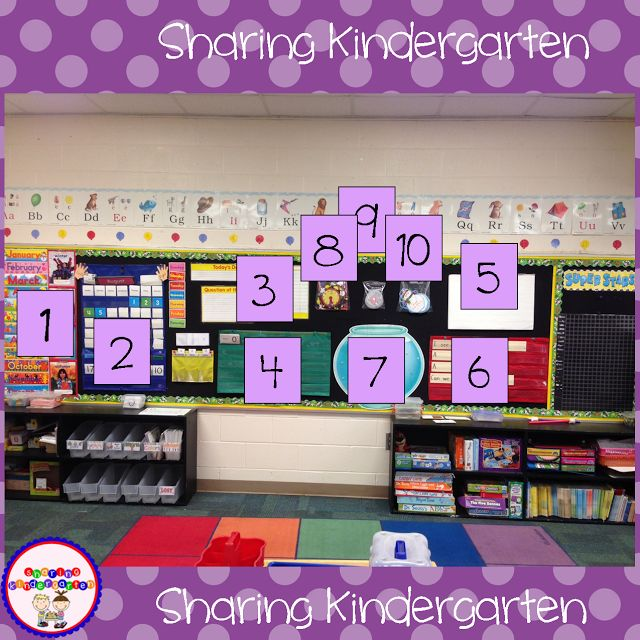 Sharing Kindergarten idea 5 - daily write a sentence with kids using sight words (focus on word of week)