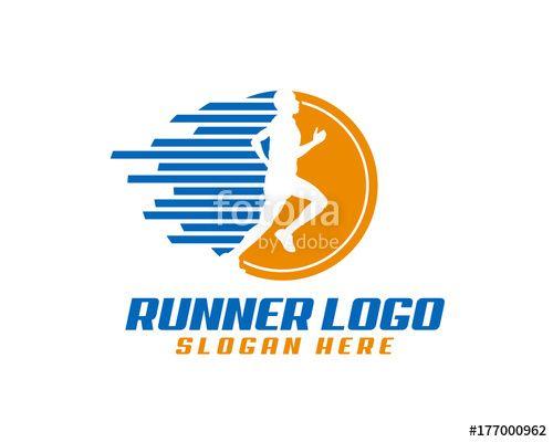 Vector: run logo, race logo, fitness logo