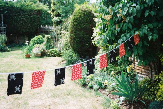 Pirate Flag Bunting by Melsey on Etsy, $18.99