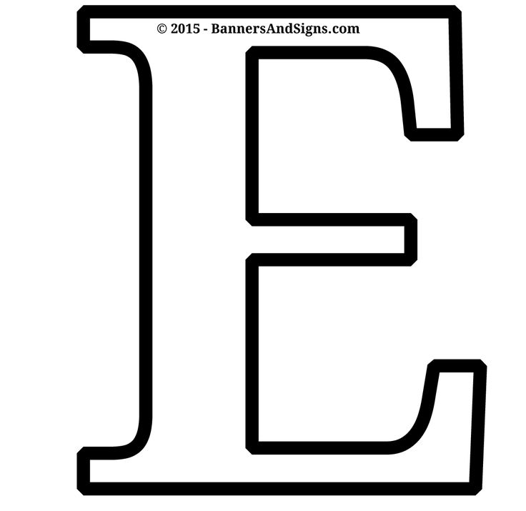 Printable Letter E Coloring Page Use This For Your Crafts And Cut Out Projects Kids Will Love PDF