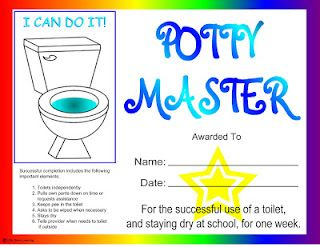 A certificate of achievement for that ultimate milestone...POTTY TRAINING! A thorough blog post on the subject as well.