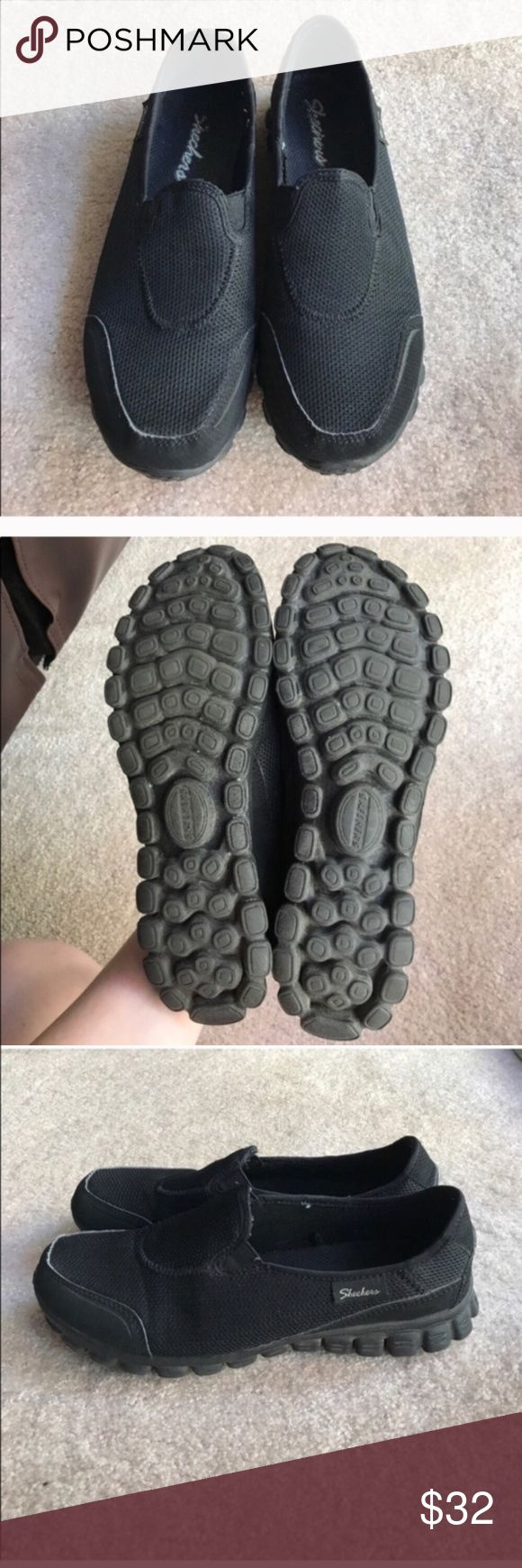Skechers black slip on sneakers size 7.5 Skechers black slip on sneakers size 7.5 Skechers Shoes Sneakers