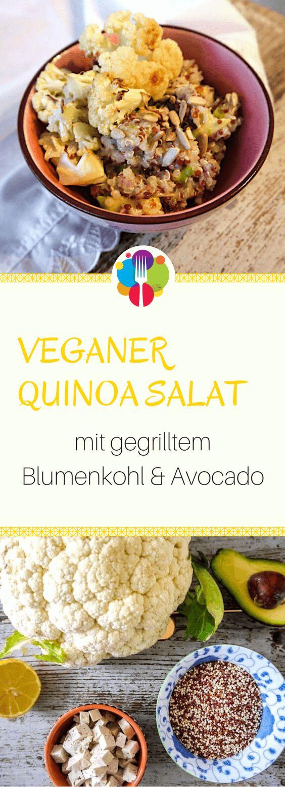 Veganer Quinoa Salat I I Vegane Rezepte I Entdeckt von Vegalife Rocks: www.vegaliferocks.de ✨ I Fleischlos glücklich, fit & Gesund✨ I Follow me for more vegan inspiration @vegaliferocks #vegan #veganerezepte