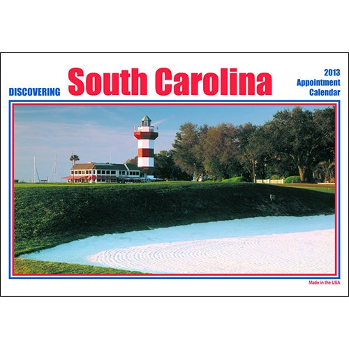 Discovering South Carolina Wall Calendar: This wall calendar features 12 different scenic views of the State of South Carolina, with informational text under each picture. The perfect way to discover South Carolina!  http://www.calendars.com/South-Carolina/Discovering-South-Carolina-2013-Wall-Calendar/prod201300018011/?categoryId=cat00849=cat00849