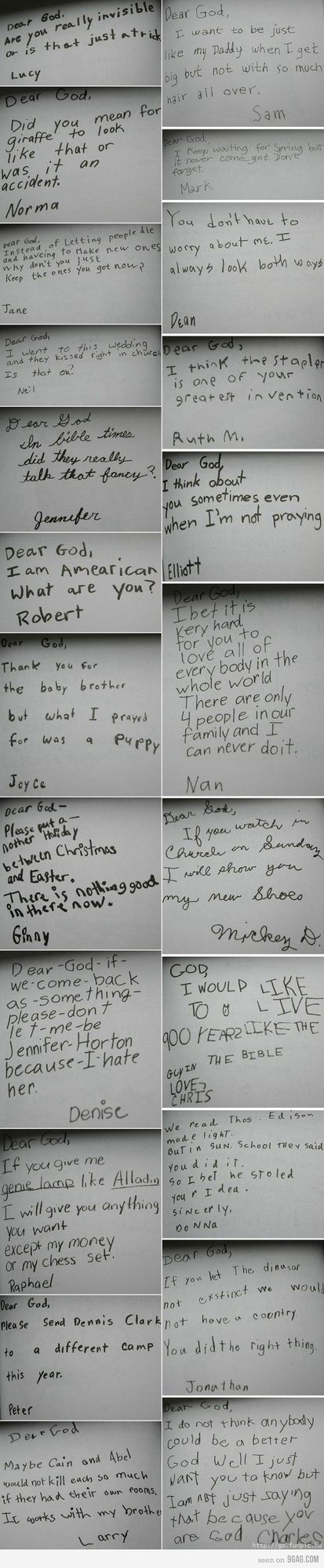 Some examples of why kids write the funniest things.