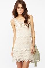 Lace dress: Lace Beautiful, Tattle Tales, Crochet Dresses, Tales Dresses, Beautiful Dresses, Lace Dresses, Crochet Knits Dresses, Gold Studs, Crochet Clothing