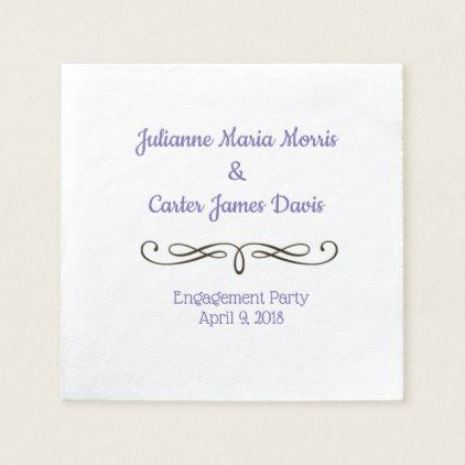 Custom Engagement party napkins - home gifts ideas decor special unique custom individual customized individualized