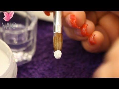 Liquide Monomère et Poudre Acrylique, Former une Goutte Correctement Tutoriel par Naio Nails - YouTube