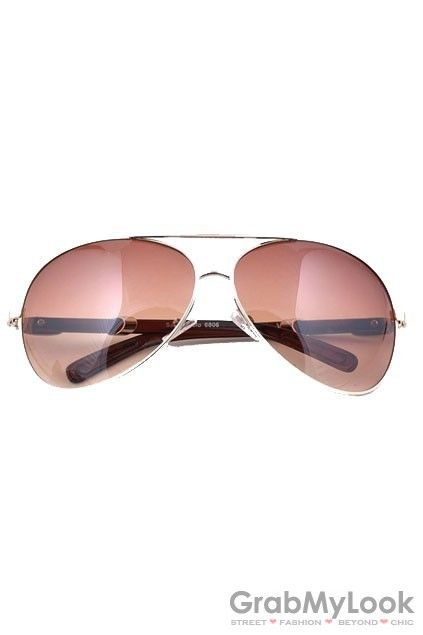 GrabMyLook Metal Frame Aviator Pilot Sunglasses Eyewear