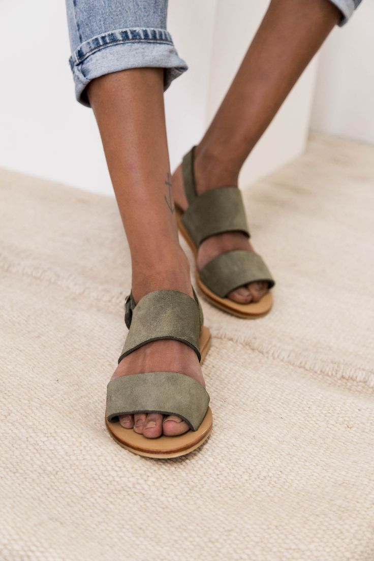 Jun Sandals in Olive