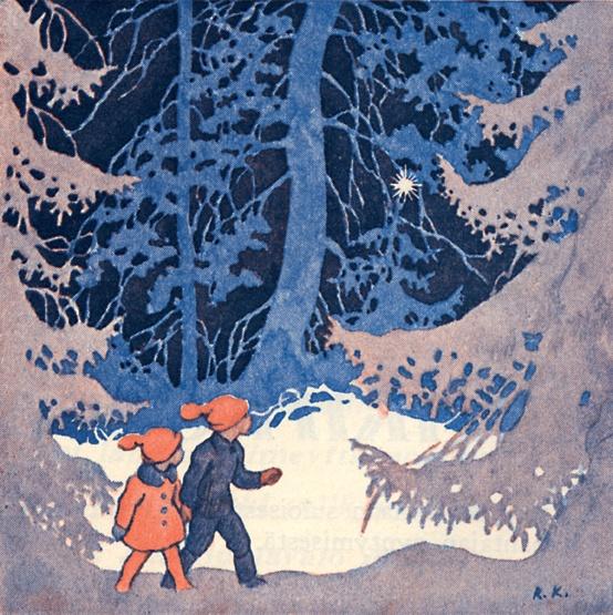 Rudolf Koivu.  book illustrator and Christmas stamp illustrator