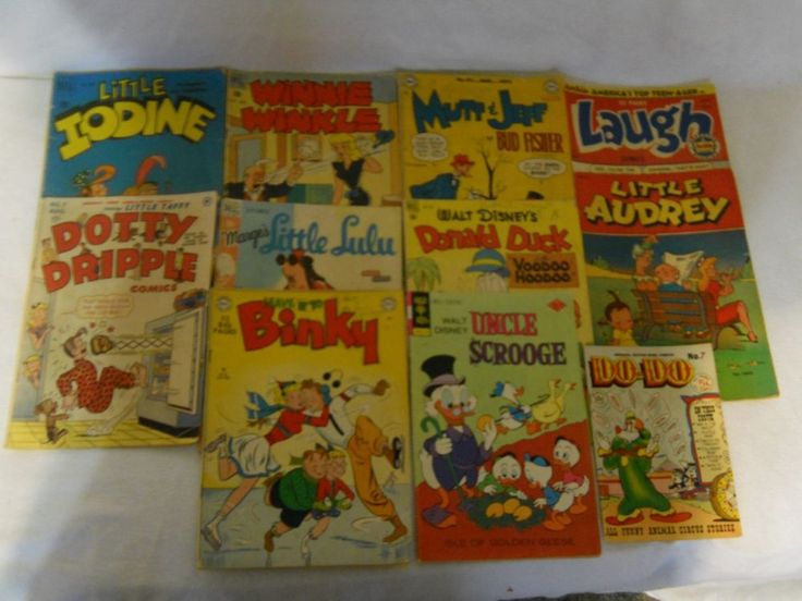 11 Vintage Comic Books 1940s 1950s Little Audrey Mutt and Jeff Little Lulu Binky | Collectibles, Comics, Collections | eBay!