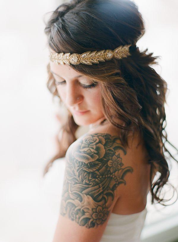 Anthropologie headband - Colorado Springs Wedding captured by Cassidy Brooke - via ruffled