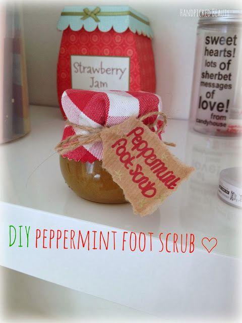 DIY christmas present idea: Peppermint foot scrub ♡ | Handpicked Beauty