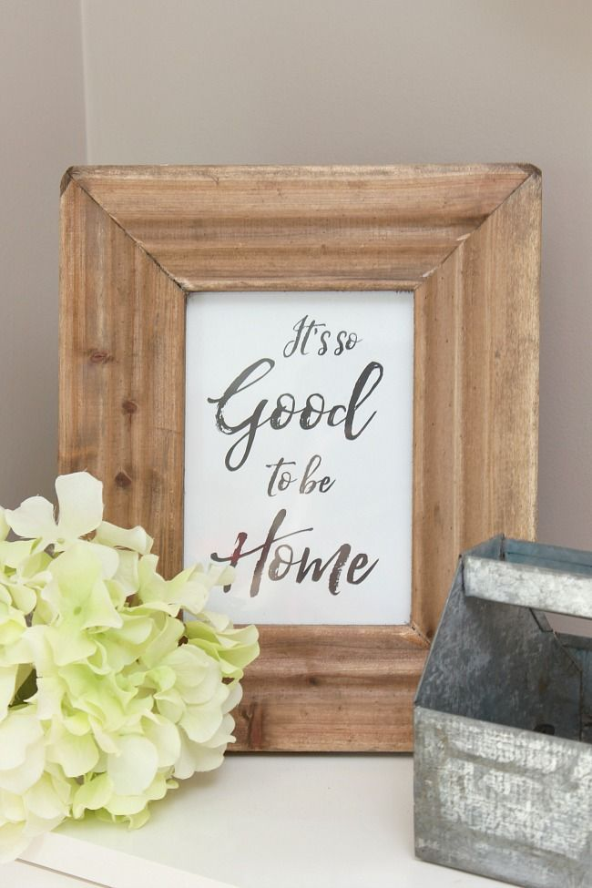 Free home printable.  Great for the front entryway or to use as a housewarming gift!