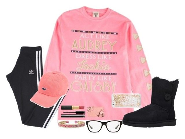 """""""To My Math Homework- Solve Your Own Problems"""" by bowbeauty01 ❤ liked on Polyvore featuring adidas, UGG, Stella & Dot, Ralph Lauren, Chanel, Too Faced Cosmetics, ban.do, Vineyard Vines and bowbeautiful"""