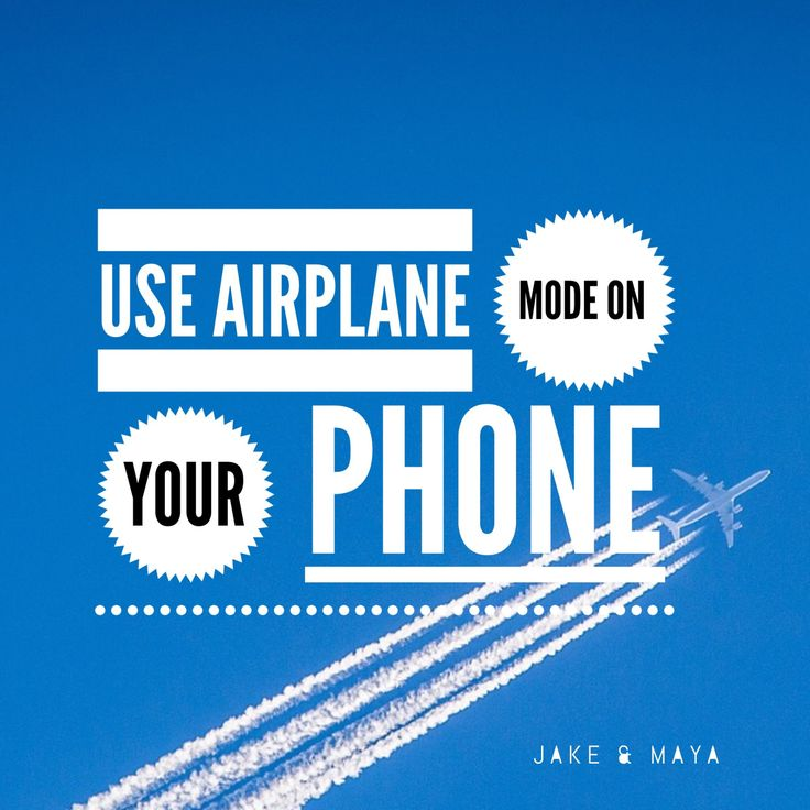 how to get out of airplane mode