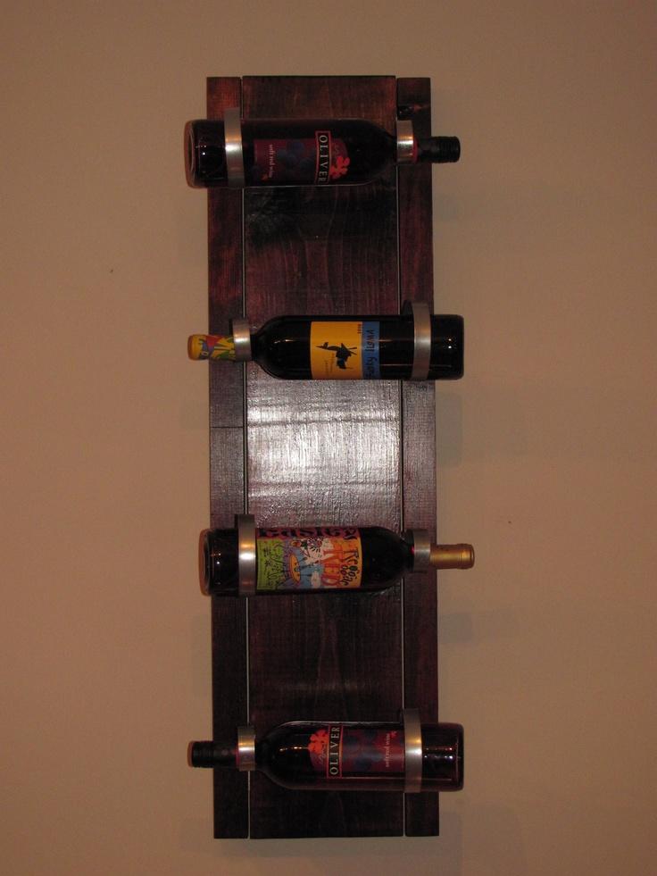 Best 25 homemade wine racks ideas on pinterest for Easy wine rack