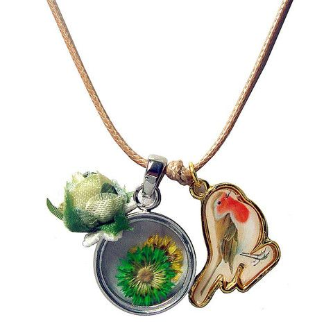 Little Birdie with Flower Necklace – ASK ALICE by All Gifts Online