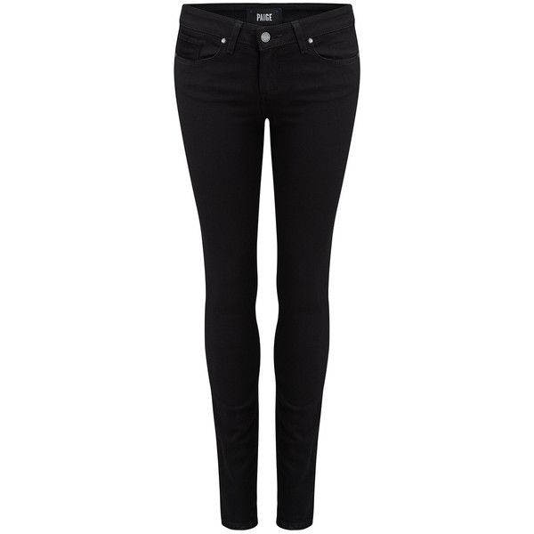 Paige Denim Verdugo Ultra Skinny Jeans - Black Shadow ($275) ❤ liked on Polyvore featuring jeans, pants, black shadow, skinny leg jeans, stretch jeans, super stretch jeans, mid rise skinny jeans and mid-rise jeans